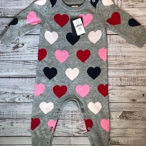 NWT GAP heart sweater one piece size 3-6 months